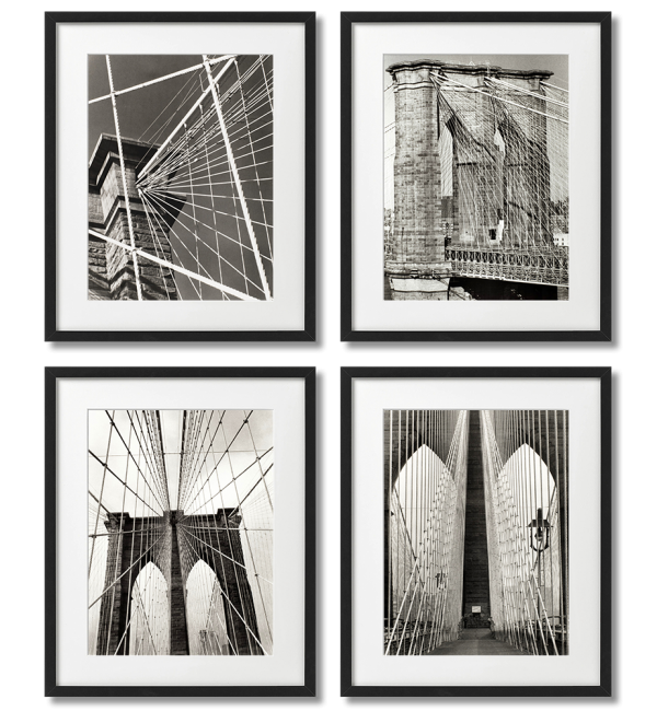 A SET OF 4 POSTERS OF THE BROOKLYN BRIDGE