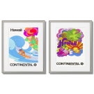 HAWAII CONTINENTAL, COLORFUL POSTERS