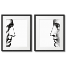 FORNASETTI - TWO FACES, WHITE POSTERS