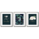 WHITE ROSES WITH GOLD, GLAMOUR POSTERS