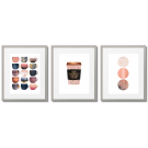 PINK AND GOLDEN SCANDINAVIAN-STYLED POSTERS WITH COFFEE