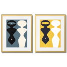 HANS ARP - TWO SILLHOUETTES IN NEGATIVE