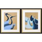 CRANES AND BLUE DRESSES