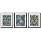 WILLIAM MORRIS - INDIGO DYE AND LIGHT YELLOW FLOWER POSTERS