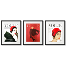 RED VOGUE COVERS
