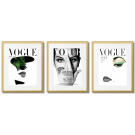 WHITE AND GREEN VOGUE COVERS