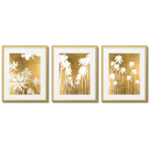 GOLDEN PALM TREES POSTERS