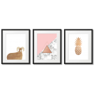 SCANDINAVIAN-THEMED PINK, GOLDEN AND MARBLE POSTERS