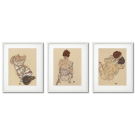 Egon Schiele, PLAKATY, AKTY