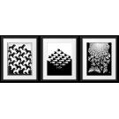 PLAKATY,  Maurits Cornelis Escher, LITOGRAFIE CZARNO-BIAŁE