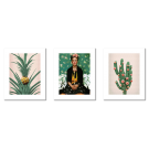 FRIDA KAHLO, CACTUS AND A PINEAPPLE