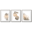 COPPER LEAVES, A SET OF 3 POSTERS