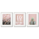 SCANDINAVIAN-THEMED PINK POSTERS WITH A CACTUS