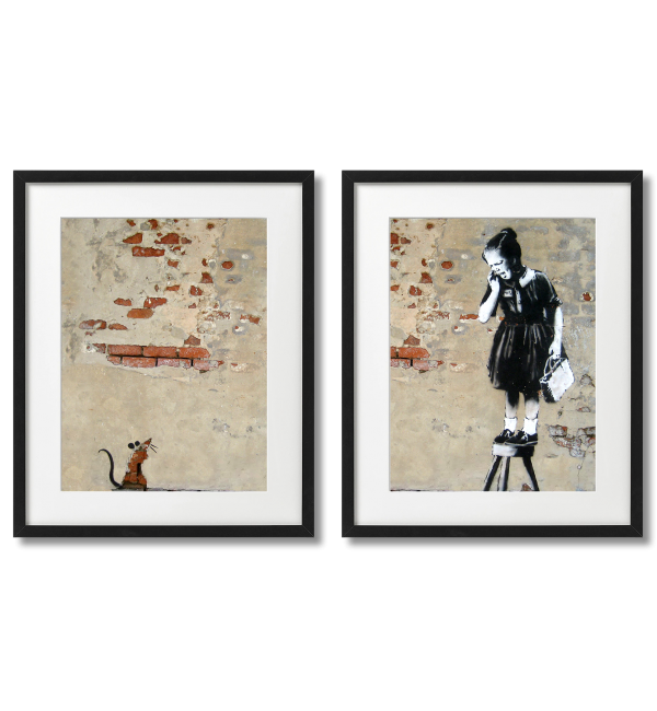 BANKSY - A MOUSE AND A GIRL
