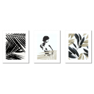SCANDINAVIAN-THEMED POSTERS - WOMAN WITH PALM TREES