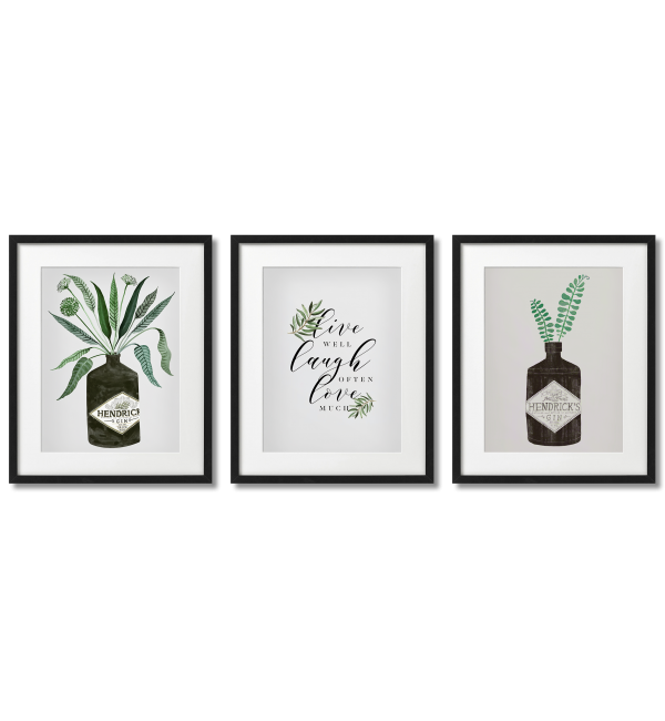 """""""LIVE, LAUGH LOVE"""" - PLANT-THEMED POSTERS"""