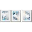 LIGHT-BLUE AND GRAY ABSTRACTIONS