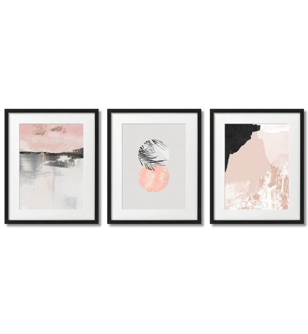 SCANDINAVIAN-THEMED BLACK AND PINK POSTERS