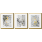 MARBLE ABSTRACTIONS WITH A TOUCH OF YELLOW