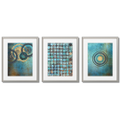 TURQUOISE DOTS, MODERN POSTERS