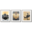 ERTE - GOLDEN AND GRAY POSTERS