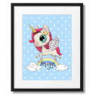 UNICORN WITH A RAINBOW, A CUTE POSTER FOR CHILDREN
