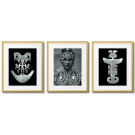 FORNASETTI - GRAPHICS WITH AGED GOLD