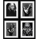 Miles Davis 4 plakaty, czarno-białe fotografie