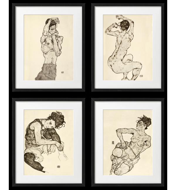 Egon Schiele, PLAKATY, LITOGRAFIE