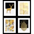 Plakaty Glamour złoto - czarne