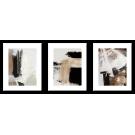 Brązowo-beżowe abstrakcje 3 plakaty w ramach