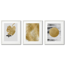 MUSTARD-COULORED GOLDEN POSTERS MODERN ABSTRACTIONS