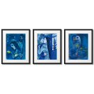 MARC CHAGALL, BLUE PAINTINGS, FRAMED POSTERS
