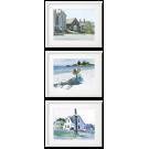 3 PIECES POSTERS, EDWARD HOPPER BEAUTIFUL WATERCOLOURS