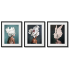 PEONY WOMEN 3 GLAMOUR POSTERS