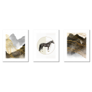 SCANDINAVIAN ABSTRACTIONS, GRAPHICS WITH A HORSE