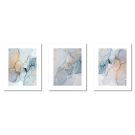 BLUE, GRAY, YELLOW PASTEL ABSTRACTIONS