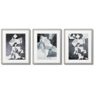 CUBISTIC CHARACTERS, GRAY POSTERS, FASHIONABLE GRAPHICS