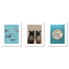 FORNASETTI - 2 SIAMESE CATS TRAVELLERS VINTAGE POSTERS