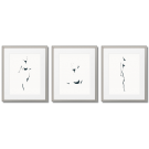 SUPER MINIMALIST FEMALE ACTS - GRAPHICS WHITE POSTERS