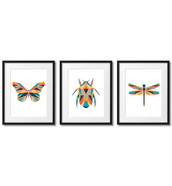 MODERN GRAPHICS GEOMETRIC INSECTS
