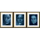 PICASSO, WOMEN'S FACES, BLUE PERIOD
