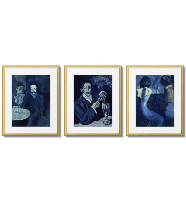 PICASSO PEOPLE IN THE BAR, BLUE PERIOD