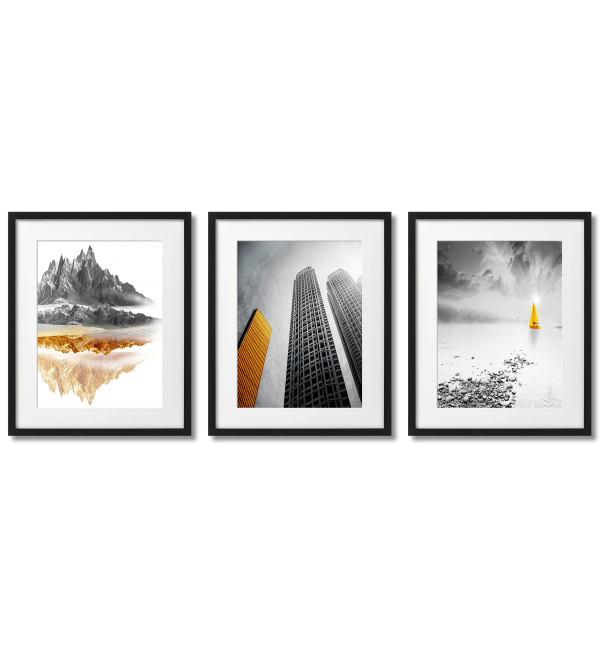 GOLDEN - GRAY LANDSCAPES POSTERS.
