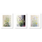 OLLE HJORTZBERG FIELD FLOWERS SET OF 3 POSTERS