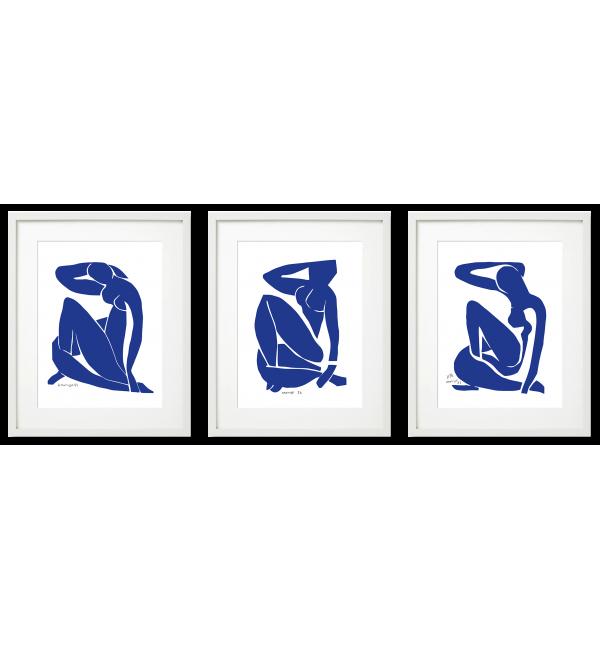 Henri Matisse, niebieskie akty wycinanki.