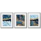 GOLDEN-BLUE MARBLE POSTERS - ABSTRACTIONS