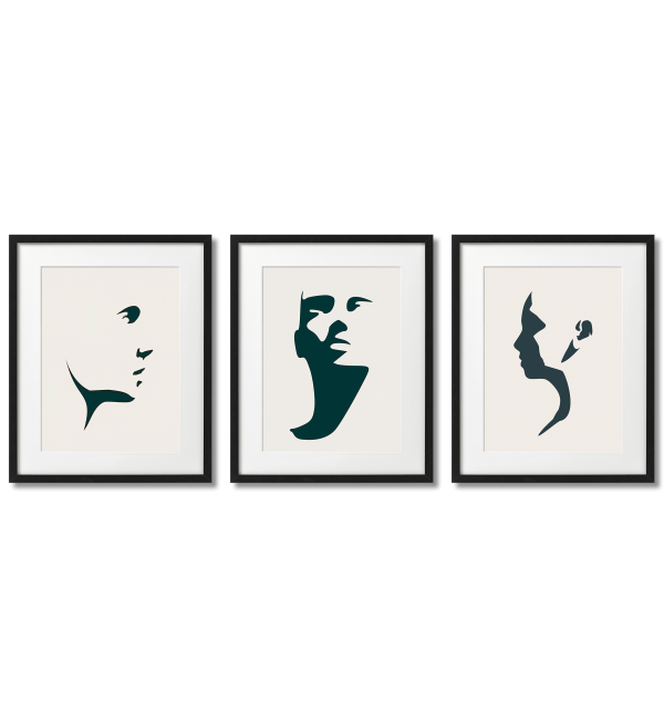 MINIMALIST GRAPHICS SHADOWS OF A WOMAN'S FACE