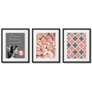 PINK-GRAY POSTERS, POWDERY PINK
