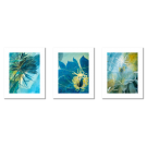 TURQUOISE AND YELLOW POSTERS WITH PLANT MOTIFS